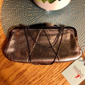 NWT Hobo Silver Clutch Bag